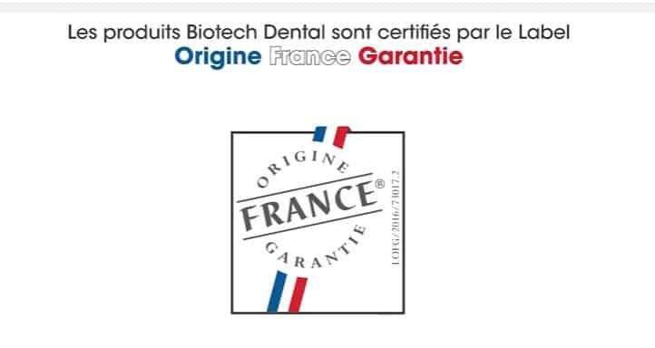 Remise officielle du label Origine France Garantie au Groupe Biotech Dental