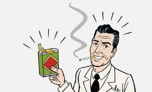 schéma d'un homme qui fume