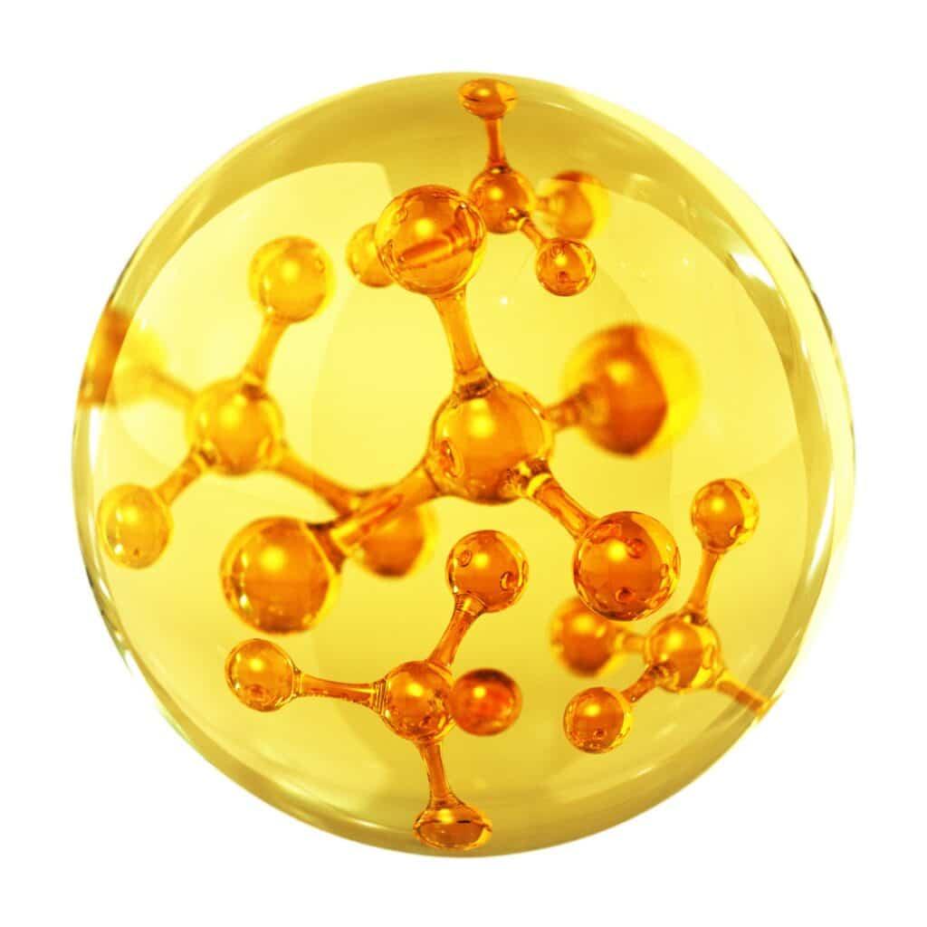 molécules d'huile